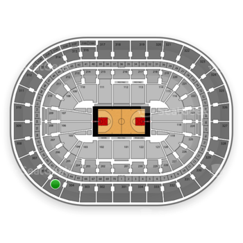 Portland Trail Blazers at Moda Center Section 305 View