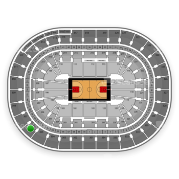 Portland Trail Blazers at Moda Center Section 306 View