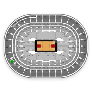 Portland Trail Blazers at Moda Center Section 307 View