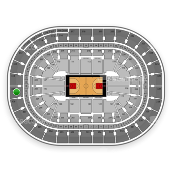 Portland Trail Blazers at Moda Center Section 309 View