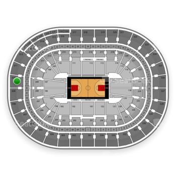 Portland Trail Blazers at Moda Center Section 310 View