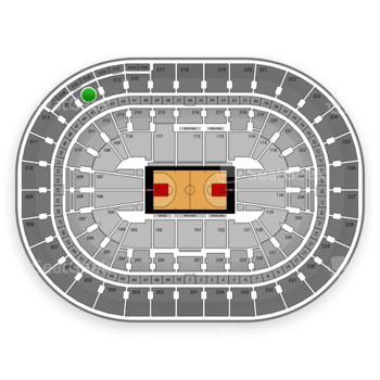 Portland Trail Blazers at Moda Center Section 314 View