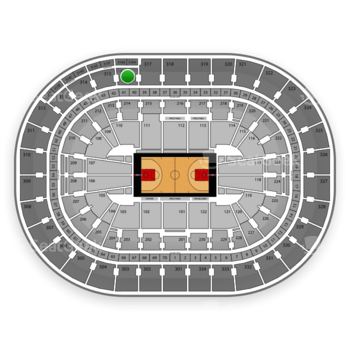 Portland Trail Blazers at Moda Center Section 316 View