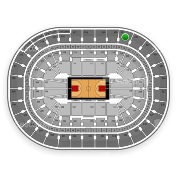 Portland Trail Blazers at Moda Center Section 321 View