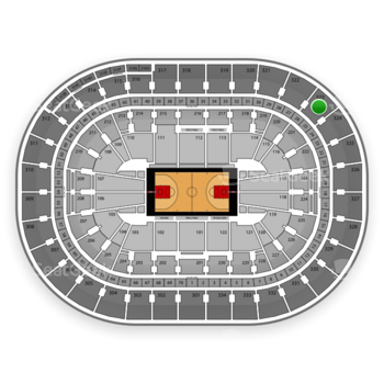 Portland Trail Blazers at Moda Center Section 323 View