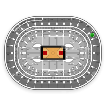 Portland Trail Blazers at Moda Center Section 324 View