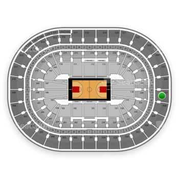Portland Trail Blazers at Moda Center Section 327 View
