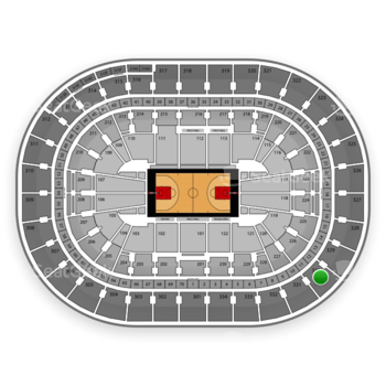 Portland Trail Blazers at Moda Center Section 330 View
