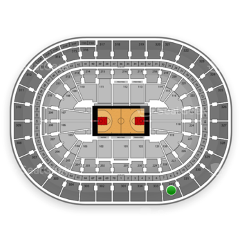 Portland Trail Blazers at Moda Center Section 332 View