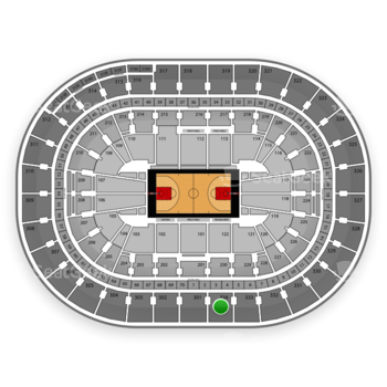 Portland Trail Blazers at Moda Center Section 334 View