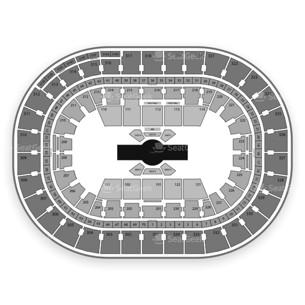 Moda Center Seating Chart Cirque Du Soleil & Map | SeatGeek
