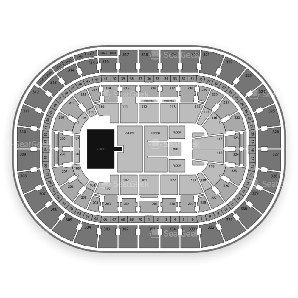 Moda Center Seating Chart Concert