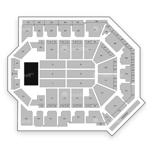 Toyota Arena Seating Chart Concert