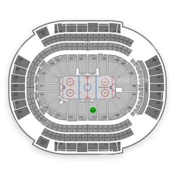 Arizona Coyotes at Gila River Arena Section 111 View