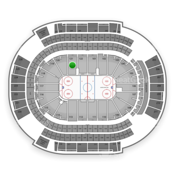 Arizona Coyotes at Gila River Arena Section 121 View