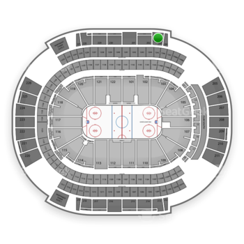 Arizona Coyotes at Gila River Arena Section 203 View