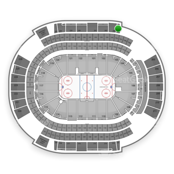 Arizona Coyotes at Gila River Arena Section 204 View