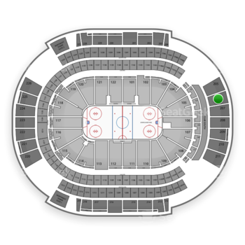 Arizona Coyotes at Gila River Arena Section 206 View