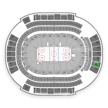 Arizona Coyotes at Gila River Arena Section 210 View