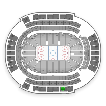 Arizona Coyotes at Gila River Arena Section 214 View