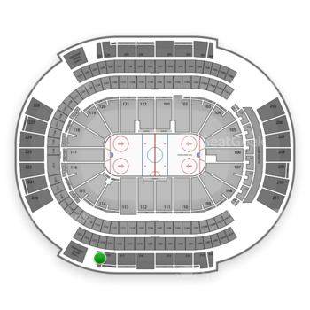 Arizona Coyotes at Gila River Arena Section 219 View