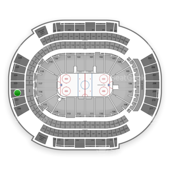 Arizona Coyotes at Gila River Arena Section 222 View