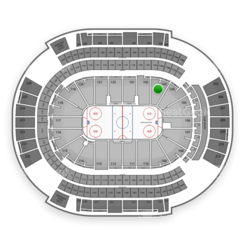 NHL at Gila River Arena Section 103 View