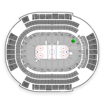 NHL at Gila River Arena Section 104 View