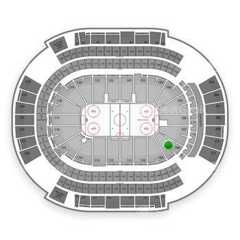 NHL at Gila River Arena Section 108 View