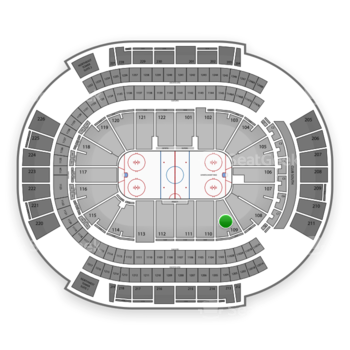 NHL at Gila River Arena Section 109 View