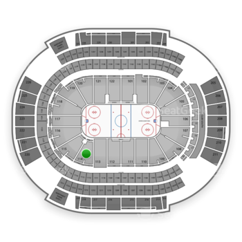 NHL at Gila River Arena Section 114 View