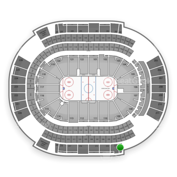 NHL at Gila River Arena Section 212 View