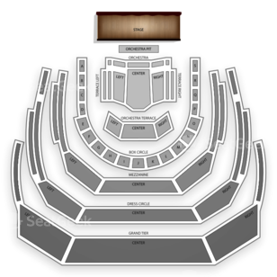 Winspear Opera House Seating Chart Theater