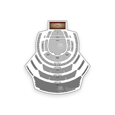 Winspear Opera House seating chart Johnny Mathis