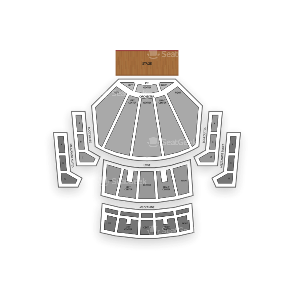 Microsoft Theater Seating Chart Family