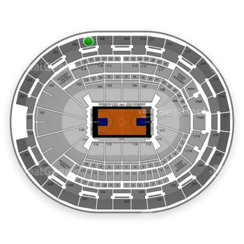 NBA at Amway Center Section 207 View