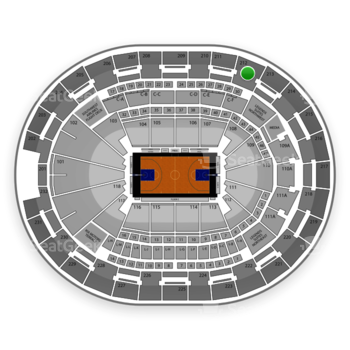 NBA at Amway Center Section 212 View
