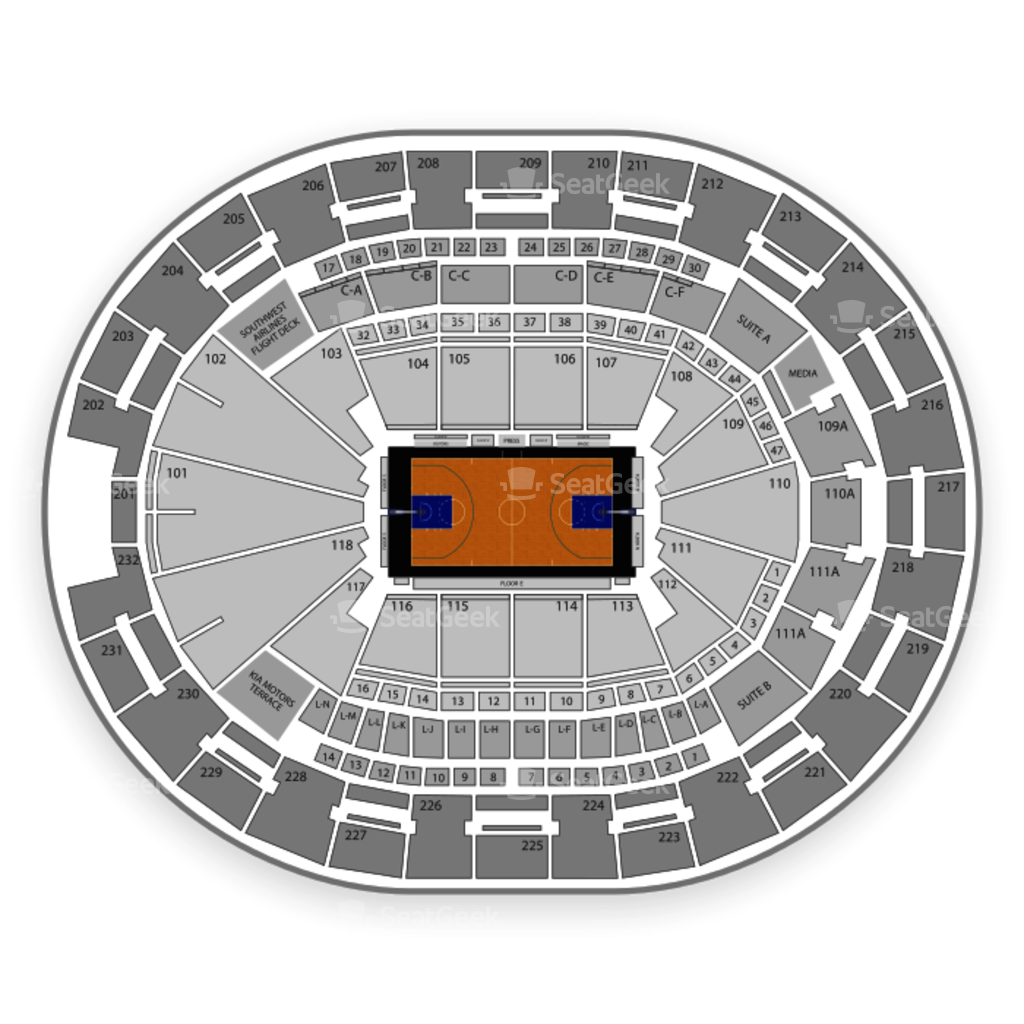 Amway center seating chart interactive seat map seatgeek