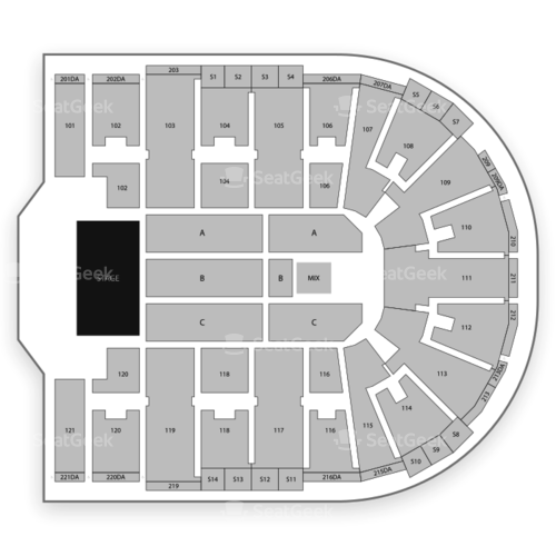 Sames Auto Arena Seating Chart Concert