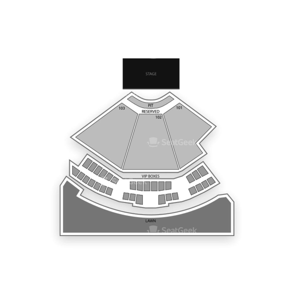 Charlotte Metro Credit Union Amphitheatre Seating Chart Concert