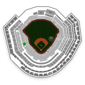 MLB at Busch Stadium Section 162 View
