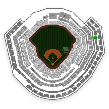 St. Louis Cardinals at Busch Stadium Section 331 View