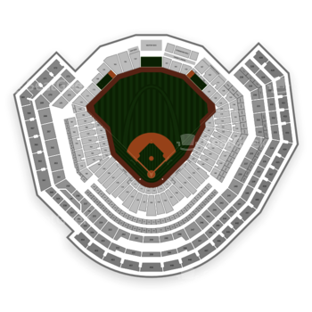 St. Louis Cardinals at Busch Stadium Section 4 View