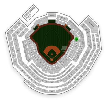 St. Louis Cardinals at Busch Stadium Lower Right Field Box 131 View