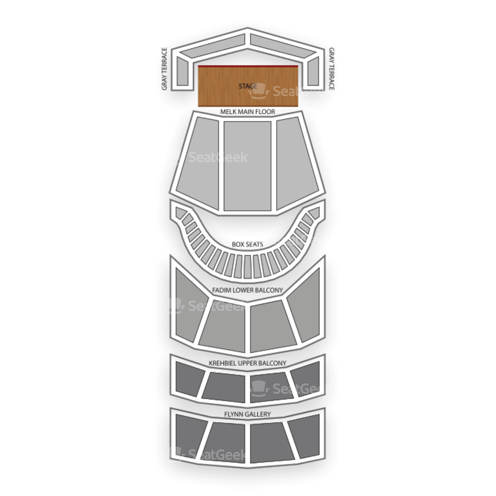Symphony Center Seating Chart Theater