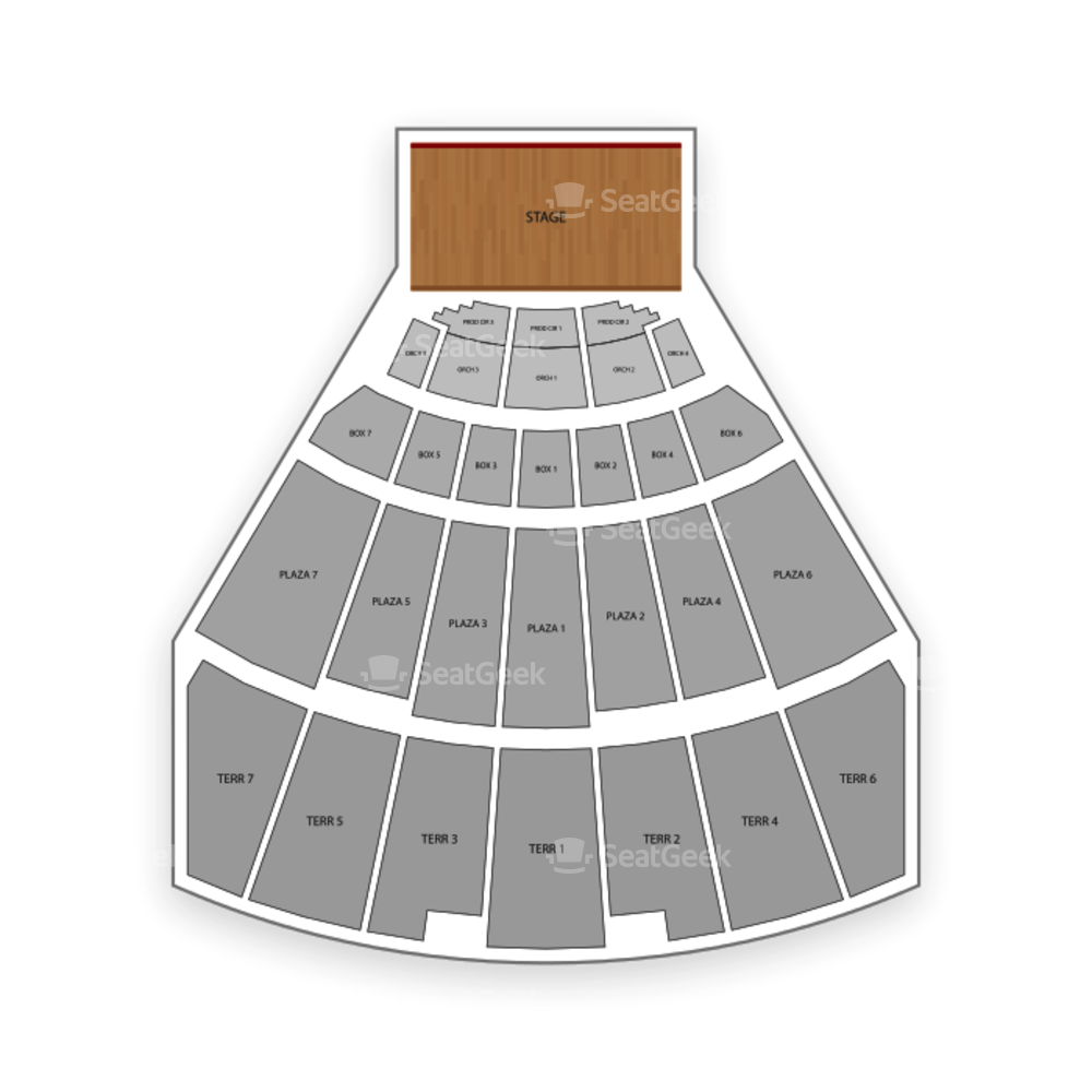 Starlight Theatre Seating Chart Theater
