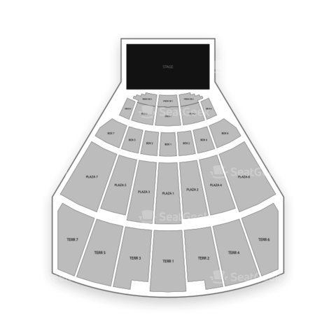 Starlight Theatre seating chart Catch Me If You Can