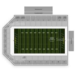 Central Michigan Chippewas Football Seating Chart