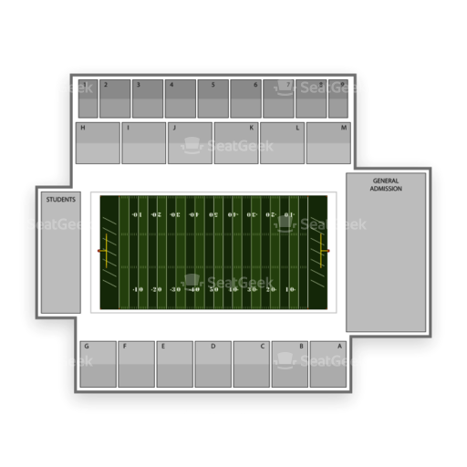 Mackay Stadium Seating Chart