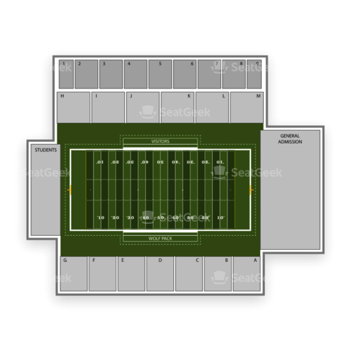 Nevada Wolf Pack Football Seating Chart